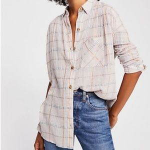 Free People Break my Stride Tunic Button Tunic Top